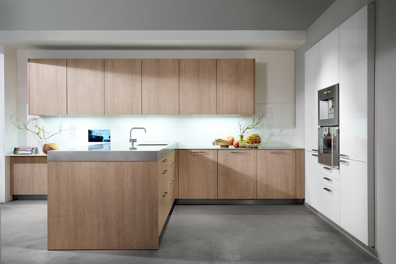 Küche Laminat Eiche