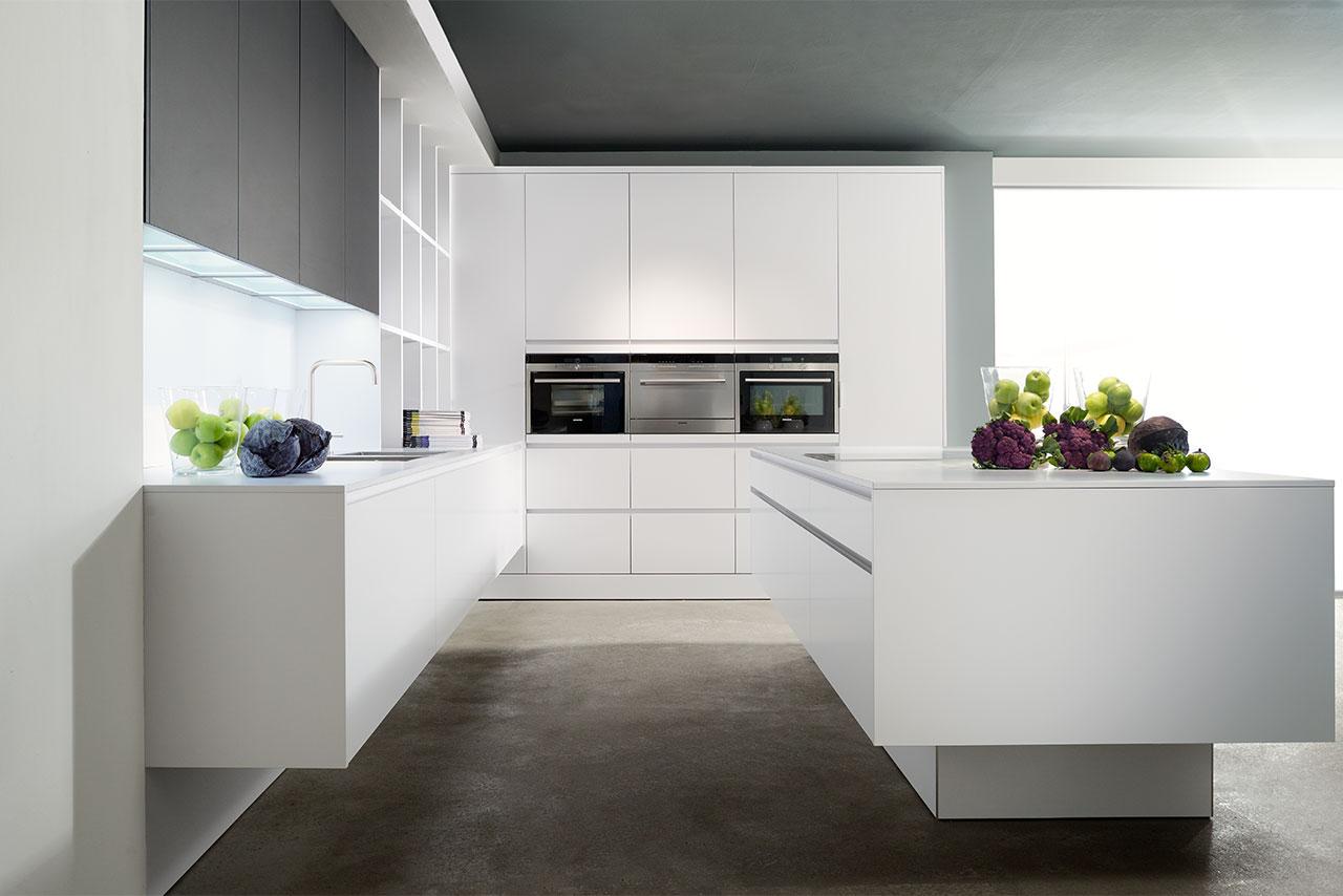 Küche Laminat weiß